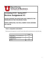 Acctg 5110 Review Assignment #1 S17 (1)