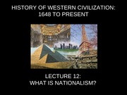 Nationalism Lecture Slides