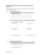 Chapter 1 Review on Beginning Algebra