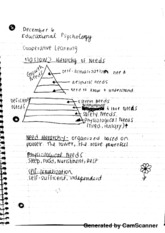 Maslow's Hierarchy of Needs Notes