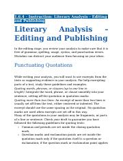 1.6.4 - Instruction - Literary Analysis - Editing and Publishing.docx