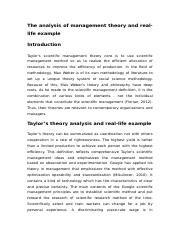 9-1208 The analysis of management theory and real.docx