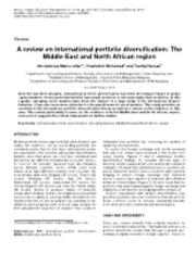 A Review On International Portfolio Diversification - The Middle East And North African Region