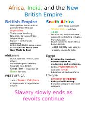 FancyNotes Africa, India and the New British Empire