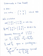 Determinants and Cross Product
