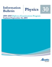 Physics 30 Diploma Outline and Exam