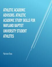 Athletic Academic Advisors.pptx