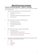 Tutorial 3.1B Practice Questions Chapter 8 Monopoly ANSWERS.docx
