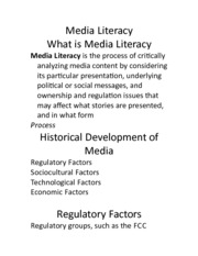 Day 2 Media Literacy UBLearns EXAM 1