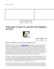 What does it mean to seek first the kingdom of God.htm