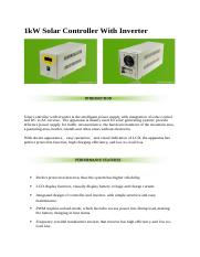 1kW Solar Controller With Inverter.docx