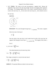 Chapter 29 Class Problem Solutions