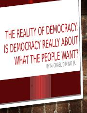 The Reality of Democracy