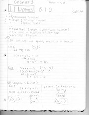 Chapter 1.1 Class Notes and Exercises