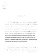 definition essay success pamela salazar english success do other related materials