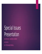 special issues pp