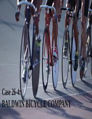 case analysis baldwin bicycle company Baldwin bicycle company case solution, the ceo of a bicycle manufacturing company is considering outsourcing the production lines of the company at a low cost provider.