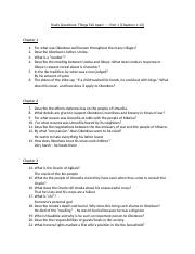 Study Questions - Things Fall Apart
