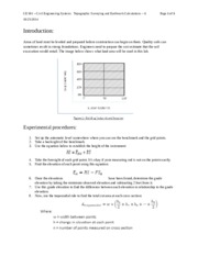 Topographic Surveying and Earthwork Calculations -- 7