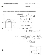 Statics Prerequisite Quiz Solution