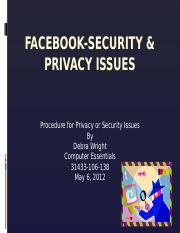Facebook-Security & Privacy Issues.pptx