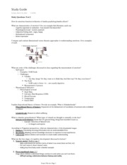 Study Guide from Lecture test 2