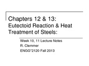 Week 10,11 - Ch12-13 - Heat Treatment of Steels