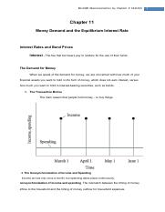Chapter 11 Money Demand and the Equilibrium Interest Rate