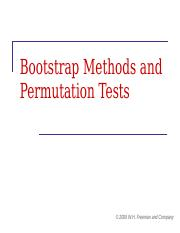 Bootstrap Methods and Permutation Tests by Tim Hesterberg
