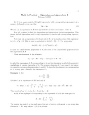 9 - Eigenvalues and Eigenvector