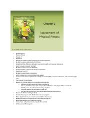Introduction to Physical Fitness and Wellness Chapter 2 Assessment of Physical Fitness