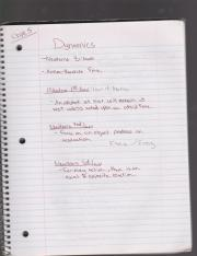 Chapter 5 Dynamics Notes