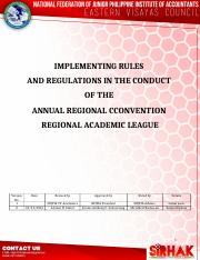IRR on Regional Academic Congress