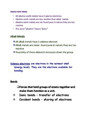 Chemistry -Alkaine Earth Metals