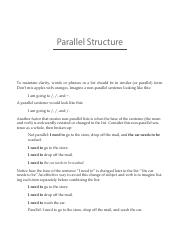 Parallel Structure new