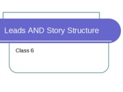 leads and story structure ppt