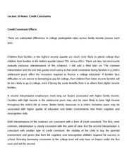 Lecture 10 Notes Credit Constraints