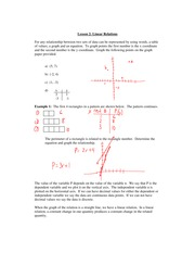 6.2 Linear Relations