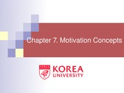 Ch 7. Motivation Concepts