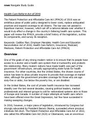 Health Care Reform Act of 2010 Research Paper Starter - eNotes