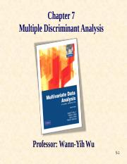 Chap7-Multiple Discrimenant Aanalysis