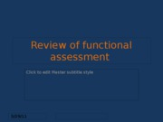 Review of functional assessment