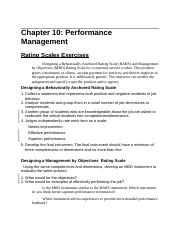Chapter 10 Performance management