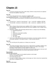 Study Guide - Chapter 15