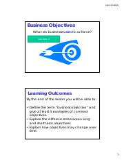 Lecture 2 - Business Objectives [Compatibility Mode]