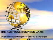 THE AMERICAS BUSINESS GAME, static orientation, Win11