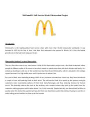 Market Research_McDonald's Self-Service Kiosk Observation Project - Joseph Faizal Pinheiro