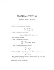 Separable Equations Test
