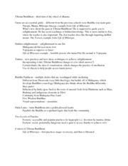 Tibetan Buddhism W9 Discussion notes (1)