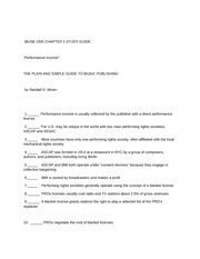 MUSB 2305 CHAPTER 5 STUDY GUIDE